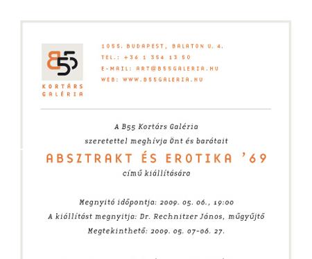 Absztrakt és erotika '69 meghívó
