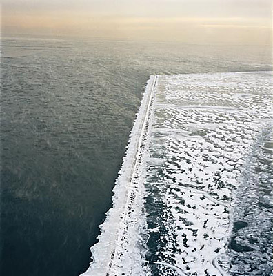 Terry Evans: Jetty, Lakefront Near Downtown Chicago, Cook County, January 29 (2004)